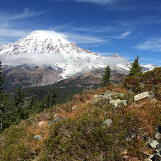 Mt. Rainier from Pinnacle Peak Trail
